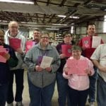 IVI team with Valentine's Day Cards