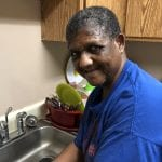 IVI client washing dishes