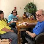 IVI clients playing cards